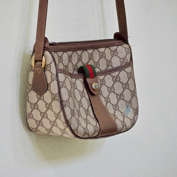 Gucci Handbags - Stained Vintage Gucci Canvas Cross Body 8902032 c2a90123fd5fc